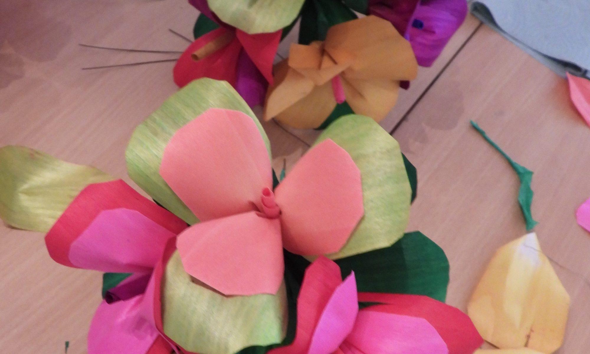 Kwiatki z wiórków osikowych